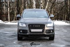 Audi Q5 helfoliert i Matt Diamond Black fra PWF-2