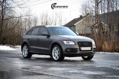 Audi Q5 helfoliert i Matt Diamond Black fra PWF-3