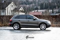 Audi Q5 helfoliert i Matt Diamond Black fra PWF-4