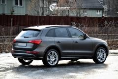 Audi Q5 helfoliert i Matt Diamond Black fra PWF-5