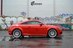 Audi TT Helfoliert i Gloss Dragon Fire Red fra 3M