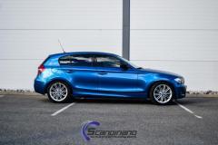 BMW 1st series E87 foliering blue