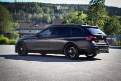 BMW 3 serie F31 helfoliert med Svart satin fra Avery dennison.-10