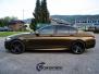 BMW 5 serie foliert i matt bond gold fra pwf