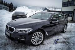 BMW 5 serie foliert i Lakkbeskyttelsesfilm Scandinano_-10