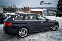 BMW 5 serie foliert i Lakkbeskyttelsesfilm Scandinano_-12