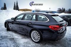 BMW 5 serie foliert i Lakkbeskyttelsesfilm Scandinano_-9