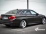 BMW 5 serie foliert Satin Gold Dust Black