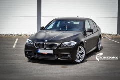 BMW 5 serie foliert Satin Gold Dust Black_-5