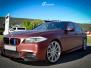 BMW 5 serie helfoliert med Matte Russet Red fra KPMF