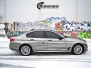 BMW 5 serie helfoliert med SORT KROM