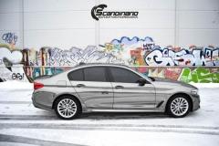 BMW 5 serie helfoliert med SORT KROM-6