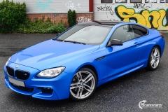 BMW 6 Series helfoliert i Diamond Blue