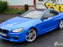 BMW 6 Series helfoliert i Diamond Blue