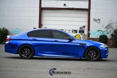 BMW blue chrome foliering