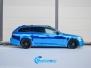BMW E60 helfoliert med bla krom