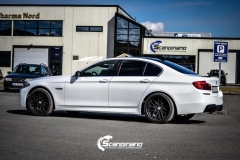 BMW F10 foliert i Diamond white-3