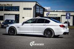 BMW F10 foliert i Diamond white-3