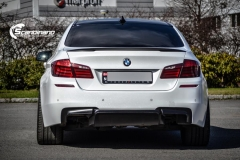 BMW F10 foliert i Diamond white-5