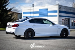 BMW F10 foliert i Diamond white-6