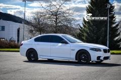 BMW F10 foliert i Diamond white-7