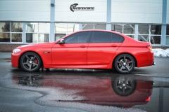 BMW Helfoliert i Gloss Hotrod Red fra 3M-1
