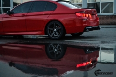 BMW Helfoliert i Gloss Hotrod Red fra 3M-12