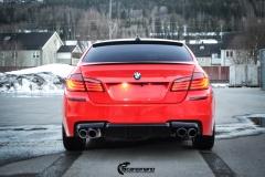 BMW Helfoliert i Gloss Hotrod Red fra 3M-5