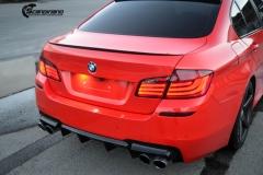 BMW Helfoliert i Gloss Hotrod Red fra 3M-6