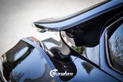 BMW i 8 foliert i Svart glossy Sport auto tilhenger-14
