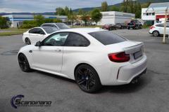 BMW M2 helfoliert med satin green fra 3M
