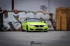 BMW M4 foliert med  Atomic Lime fra PWF-34