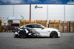 BMW M4 foliert med camo design-5