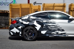 BMW M4 foliert med camo design-7