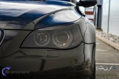 BMW M5 foliert med night gold mett