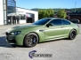 BMW M6 helfoliert med military green