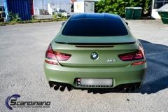 BMW M6 helfoliert-i-military-green-morkere-lykter-6