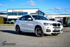 BMW X5 foliert med whait