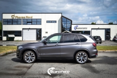 BMW X5 foliert matt dark gray Scandinano_