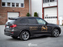 BMW X5 foliert med Black Brushed Aluminium, decor Kalmo Gard