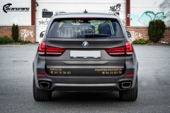 BMW X5 foliert med Black Brushed Aluminium,decor Kalmo Gard-5
