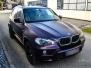 BMW X5 foliert med matt midnight purple pwf