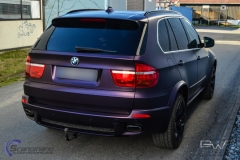 BMW X5 foliert i matt midnight purple pwf-10