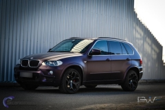 BMW X5 foliert i matt midnight purple pwf-5