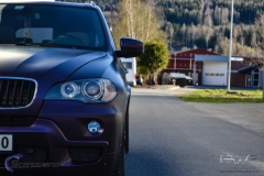BMW X5 foliert i matt midnight purple pwf-6
