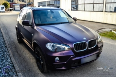 BMW X5 foliert i matt midnight purple pwf-7