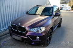 BMW X5 foliert i matt midnight purple pwf-8