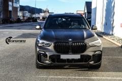BMW X5 Helfoliert i Matt Diamond Black fra PFW