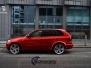 BMW X5 helfoliert med red gloss fra pwf