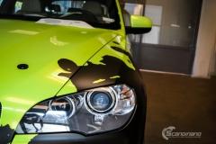 BMWX5 foliert i Atomic Lime fra PWF-10